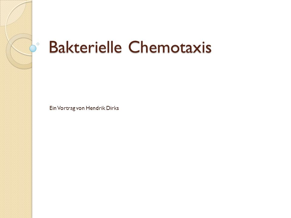 Bakterielle Chemotaxis