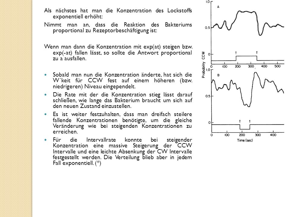 Als nächstes hat man die Konzentration des Lockstoffs exponentiell erhöht:
