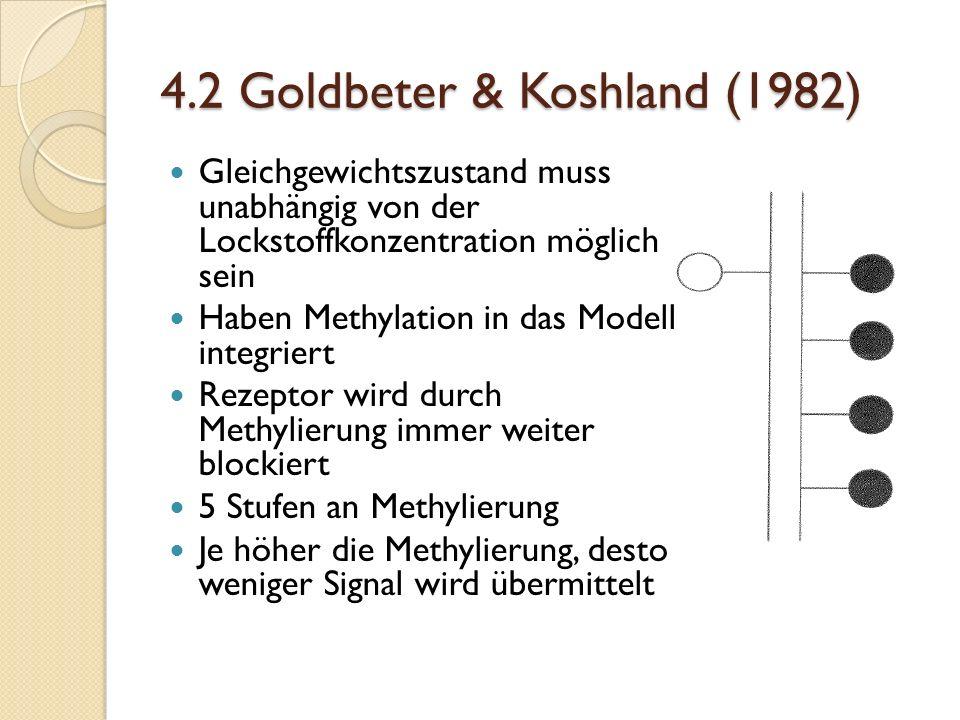 4.2 Goldbeter & Koshland (1982)