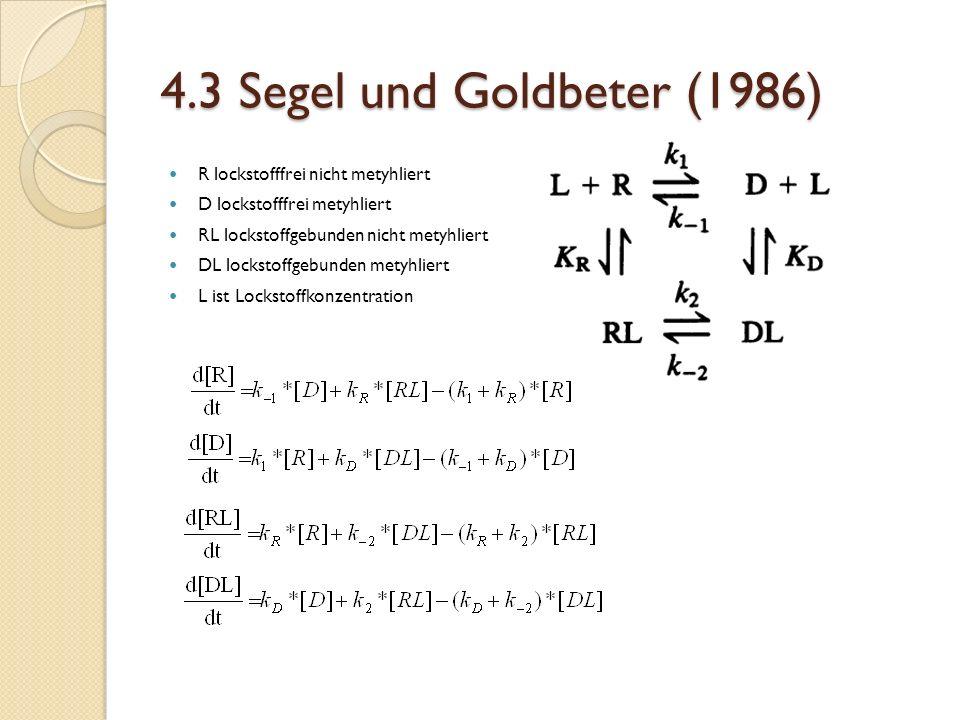 4.3 Segel und Goldbeter (1986) R lockstofffrei nicht metyhliert