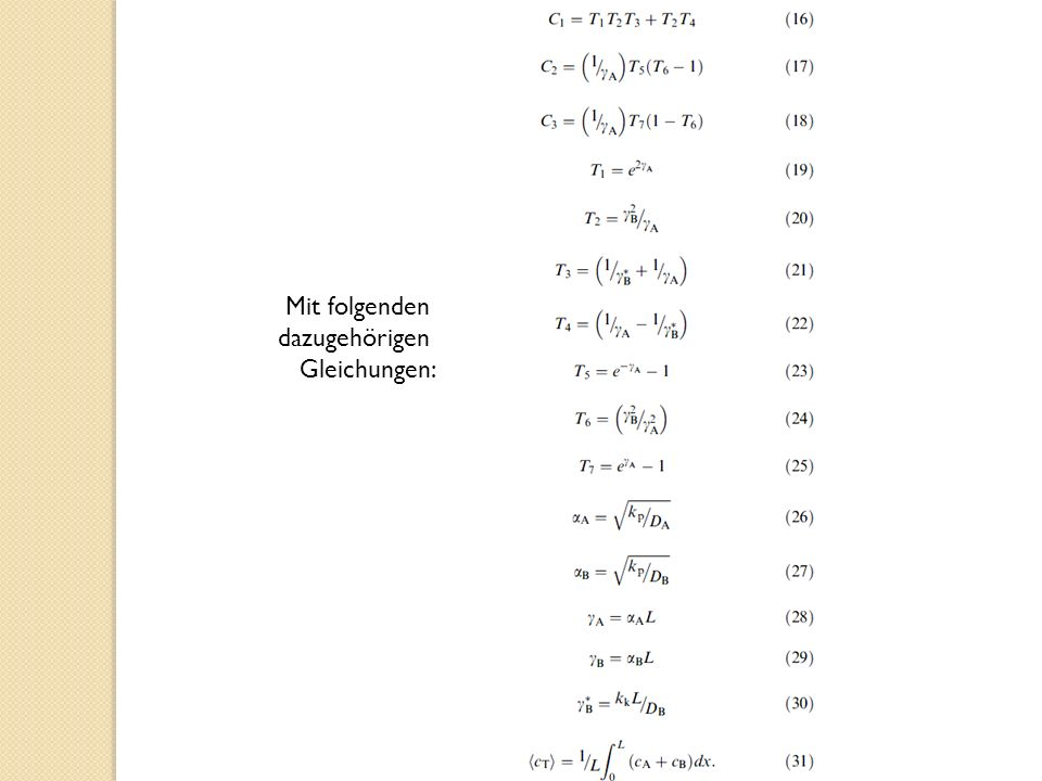 Mit folgenden dazugehörigen Gleichungen: