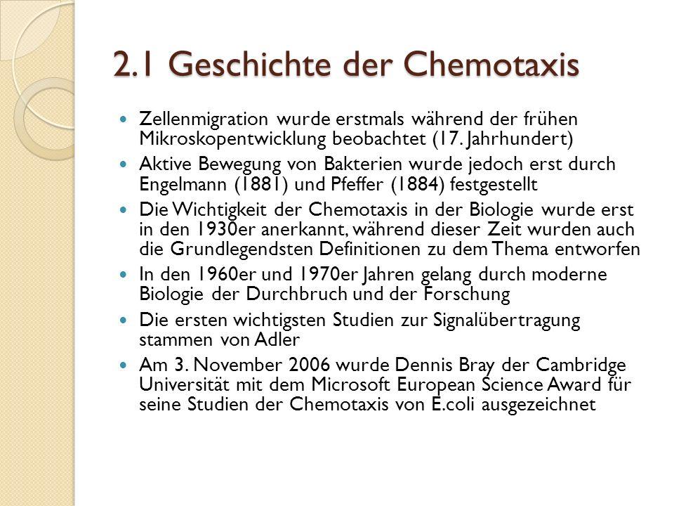 2.1 Geschichte der Chemotaxis