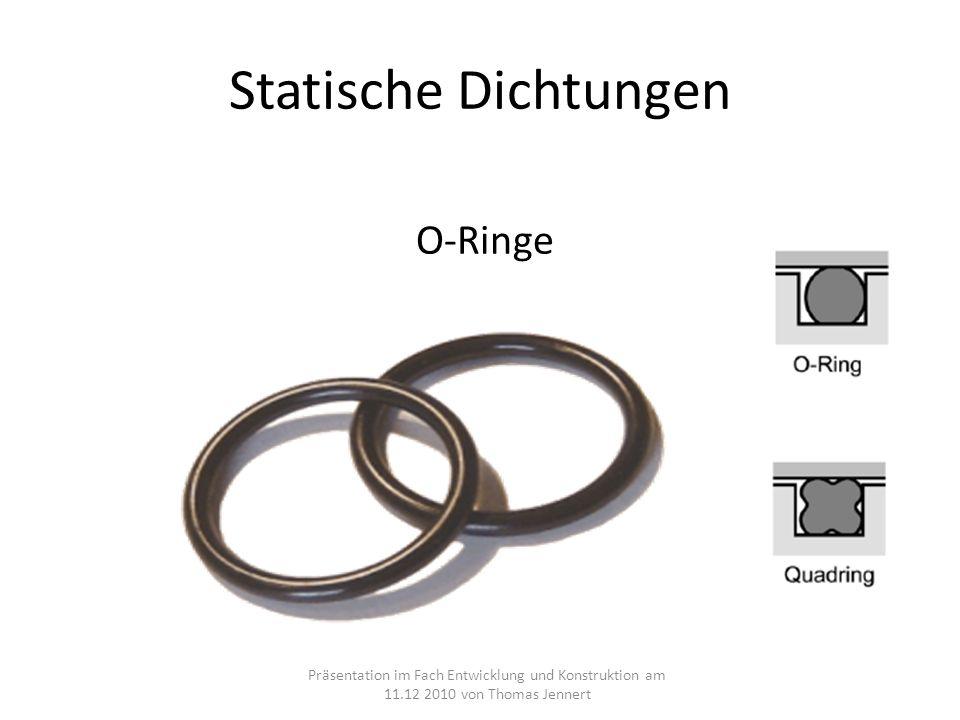 Statische Dichtungen O-Ringe
