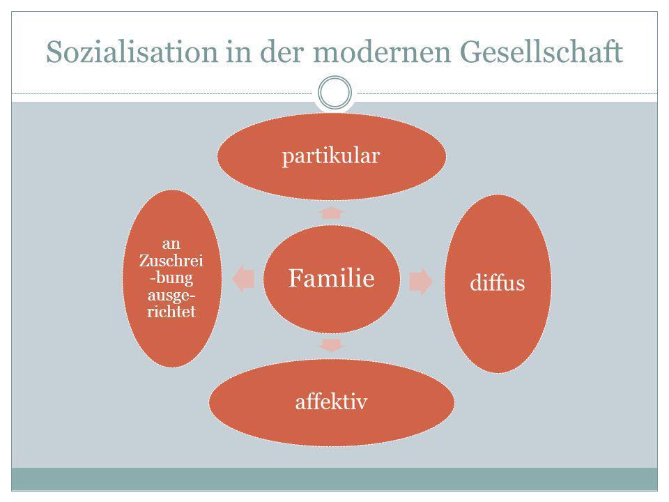 Sozialisation in der modernen Gesellschaft