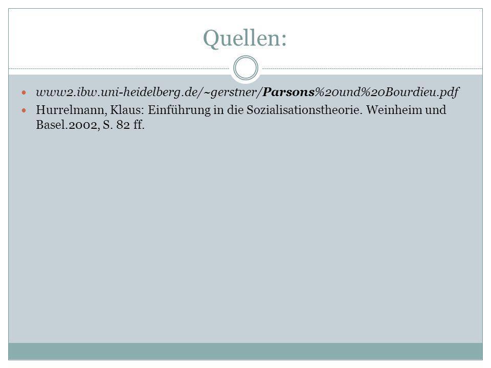 Quellen: www2.ibw.uni-heidelberg.de/~gerstner/Parsons%20und%20Bourdieu.pdf.