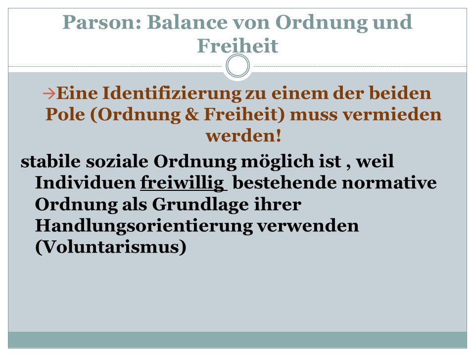 Parson: Balance von Ordnung und Freiheit