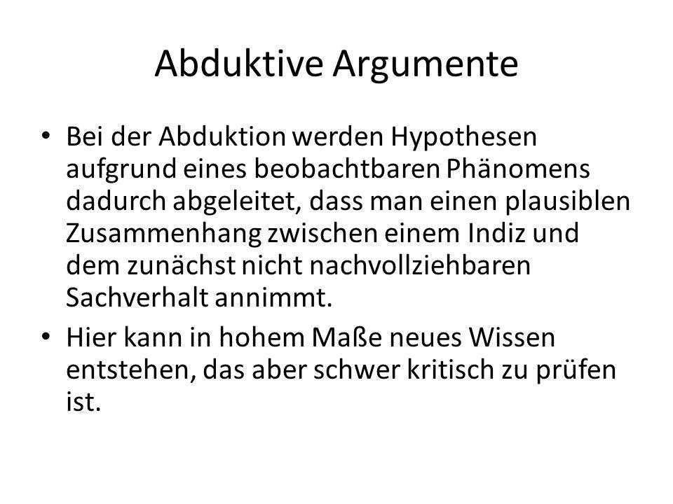 Abduktive Argumente