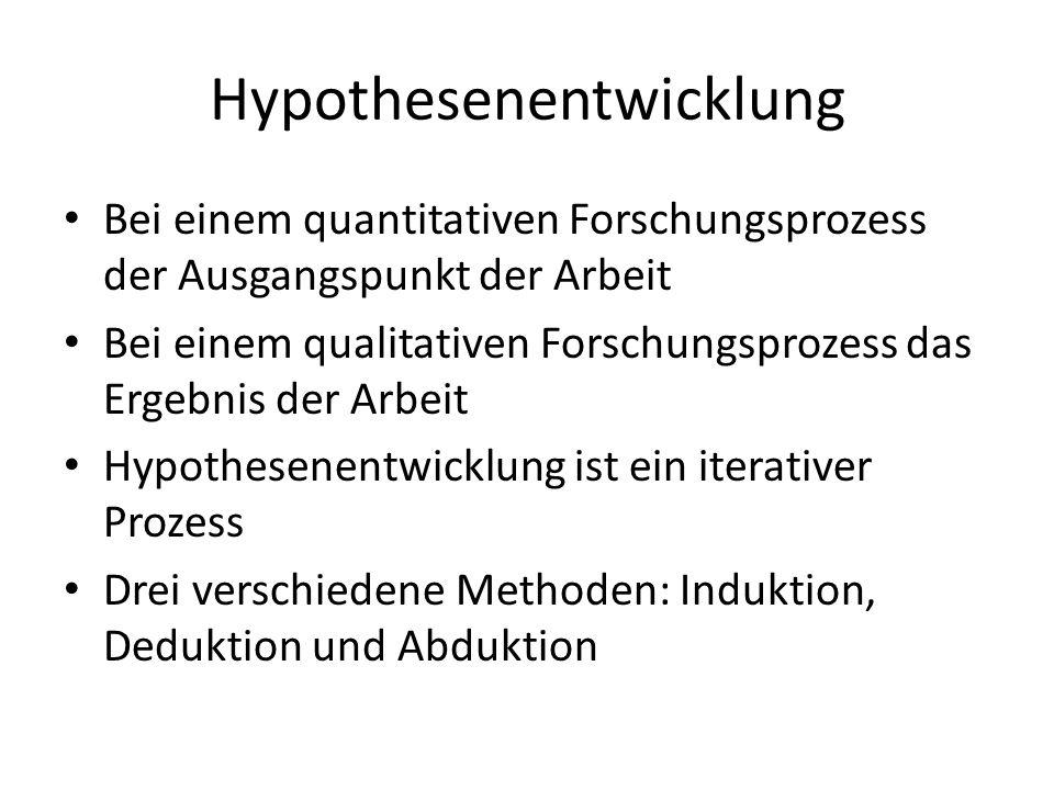 Hypothesenentwicklung