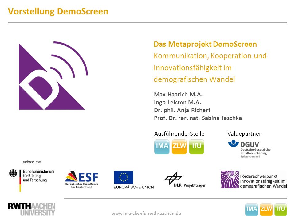 Vorstellung DemoScreen