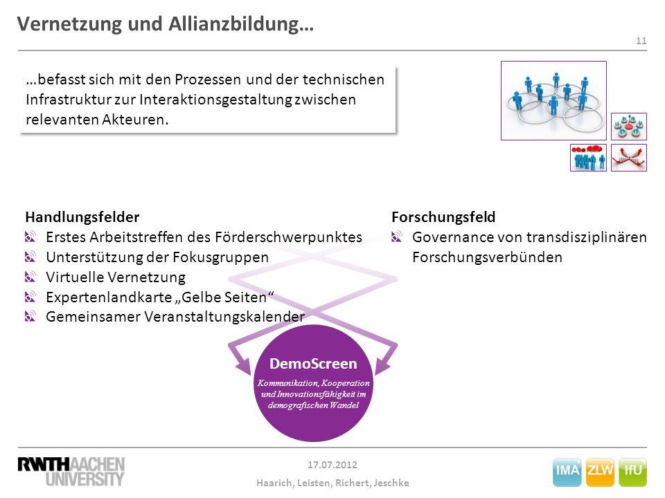 Vernetzung und Allianzbildung…