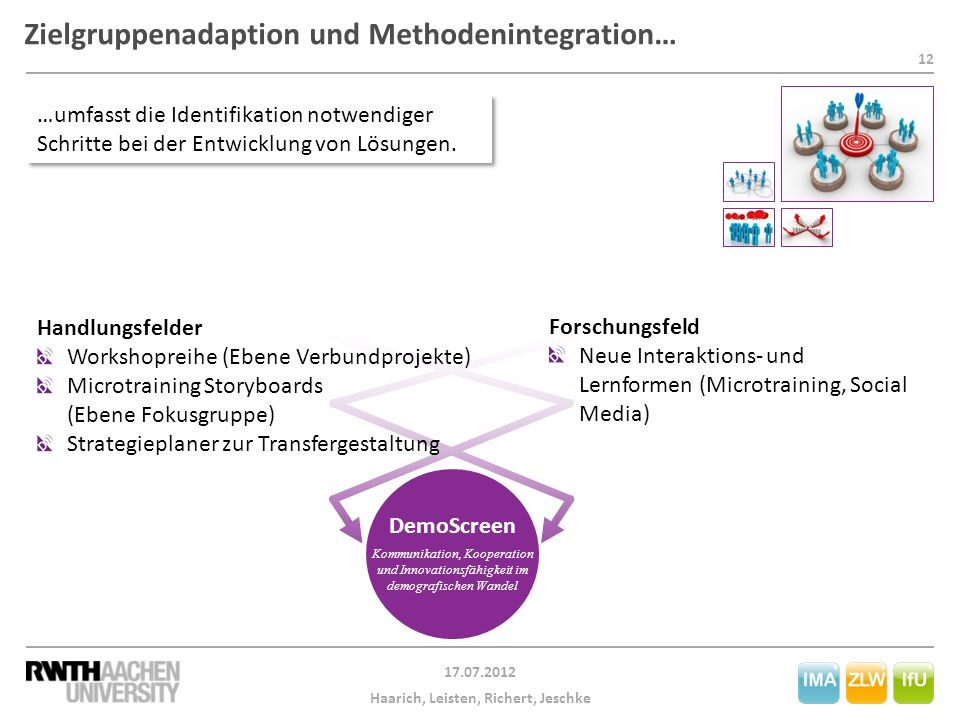 Zielgruppenadaption und Methodenintegration…