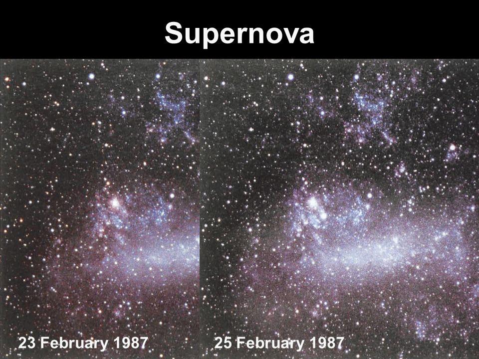 Supernova 23 February 1987 25 February 1987