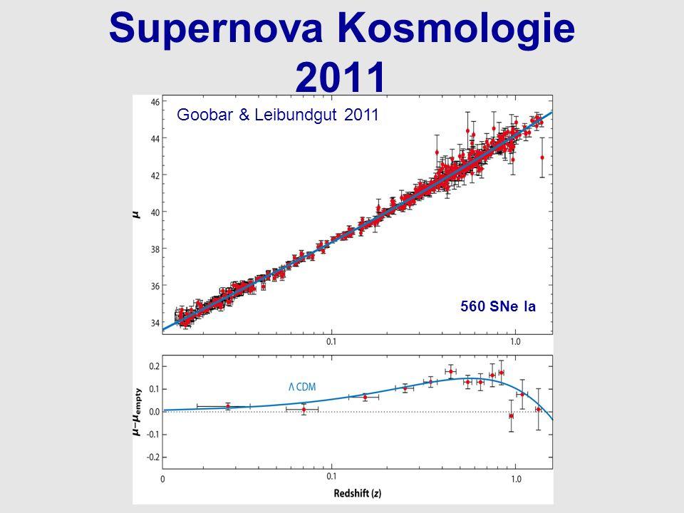 Supernova Kosmologie 2011 560 SNe Ia Goobar & Leibundgut 2011