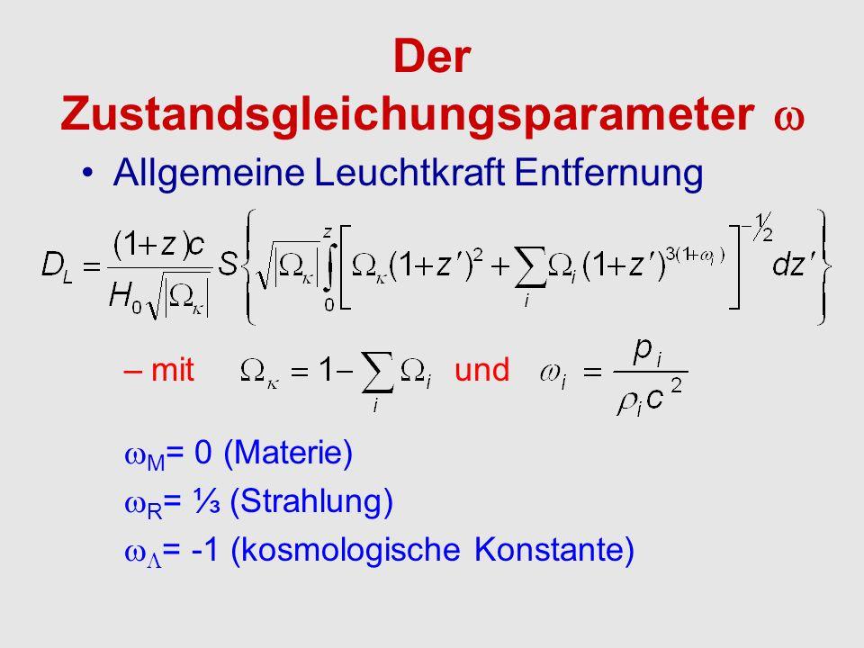 Der Zustandsgleichungsparameter 