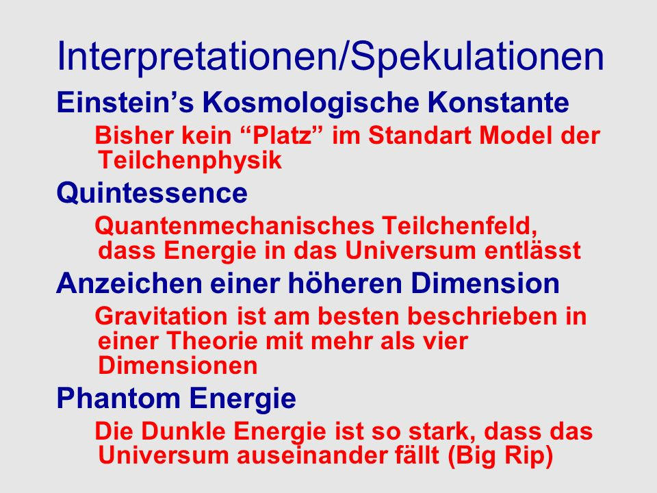 Interpretationen/Spekulationen