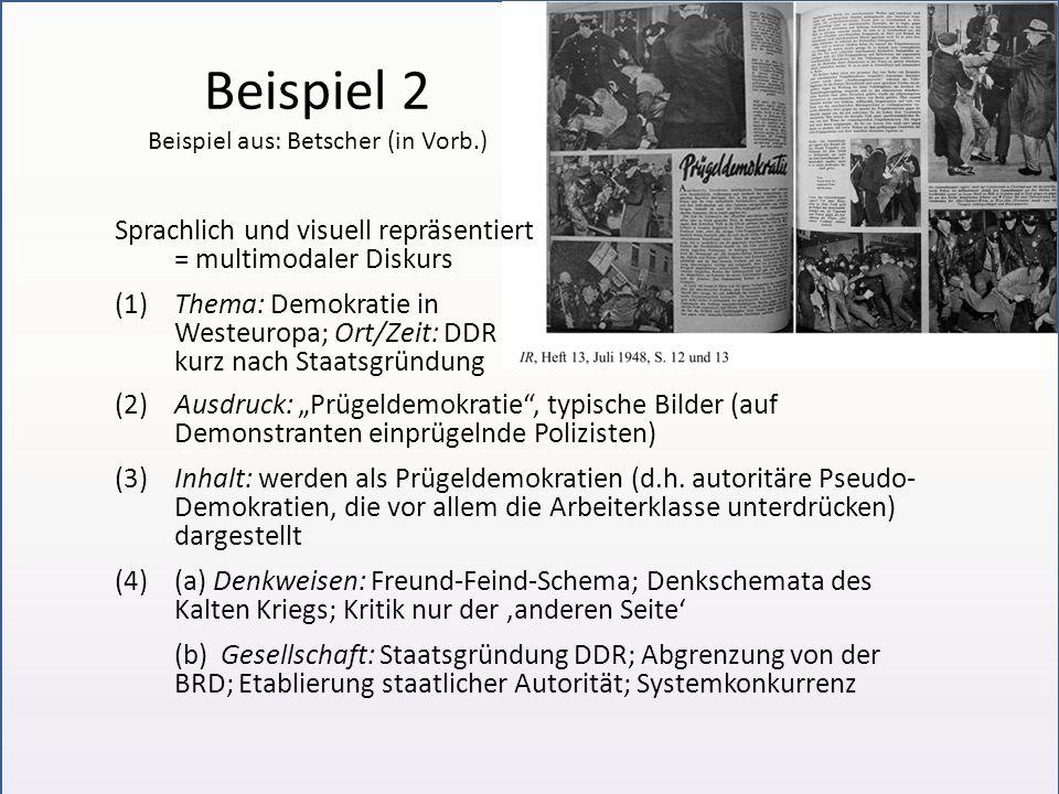 Beispiel 2 Beispiel aus: Betscher (in Vorb.)