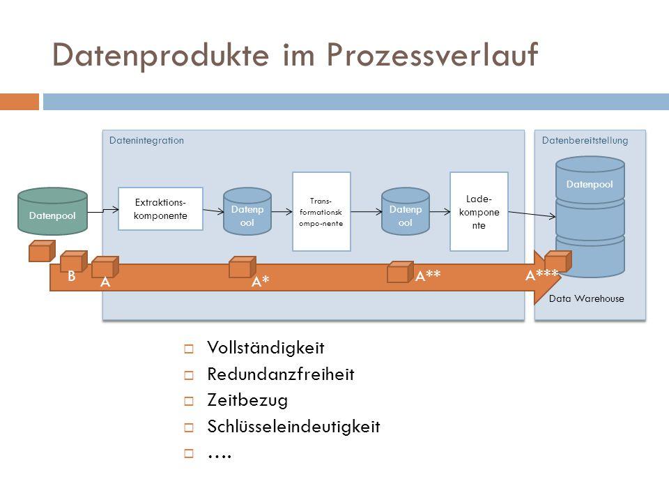 Datenprodukte im Prozessverlauf