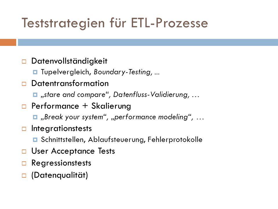 Teststrategien für ETL-Prozesse