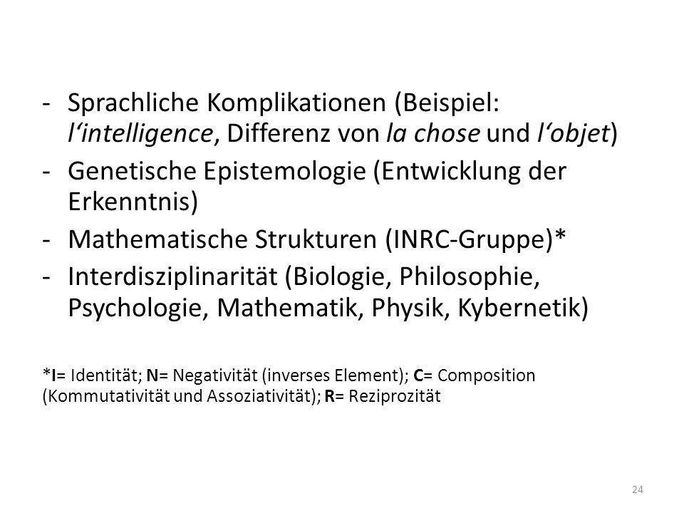 Genetische Epistemologie (Entwicklung der Erkenntnis)