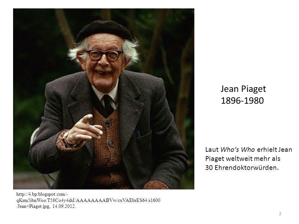 Jean Piaget 1896-1980 Laut Who's Who erhielt Jean