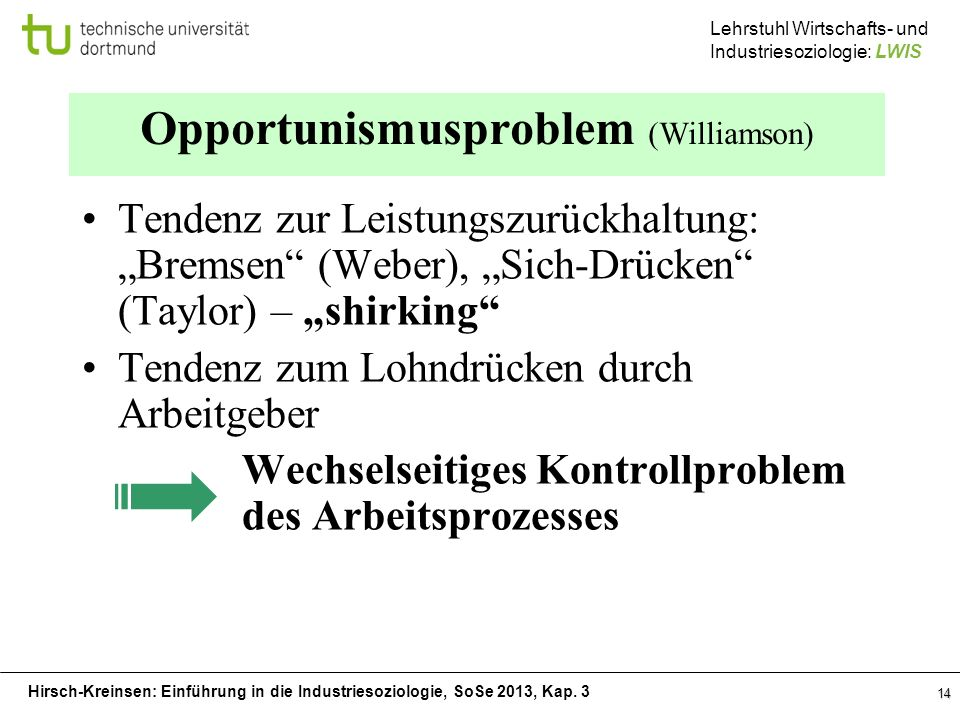 Opportunismusproblem (Williamson)
