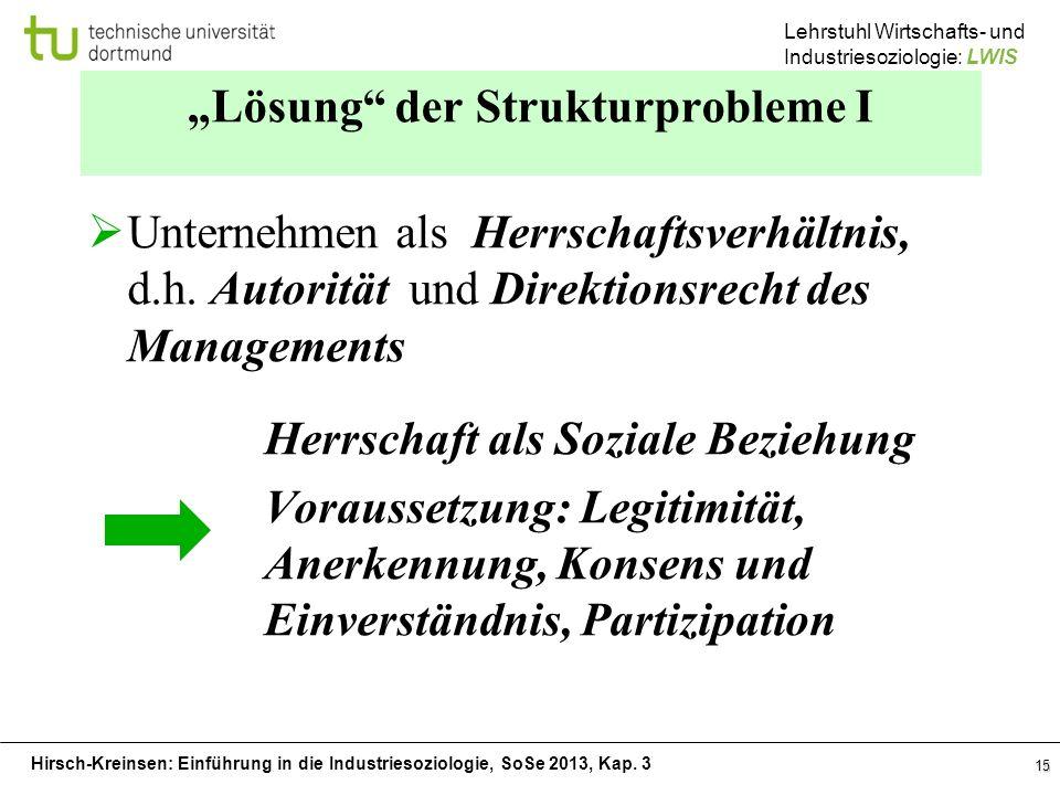 """""""Lösung der Strukturprobleme I"""