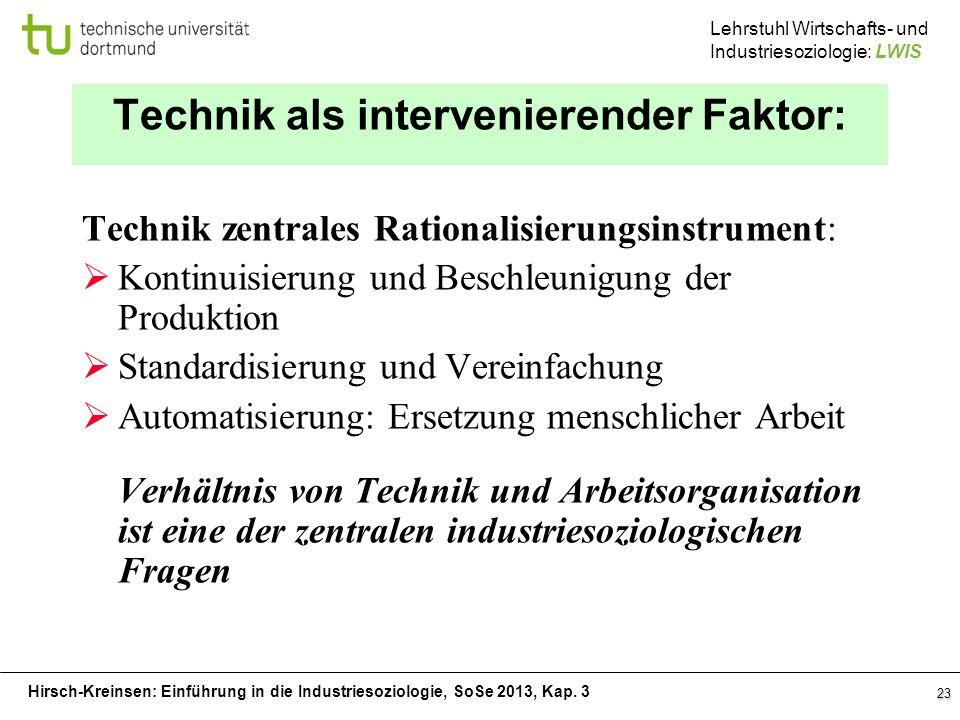 Technik als intervenierender Faktor: