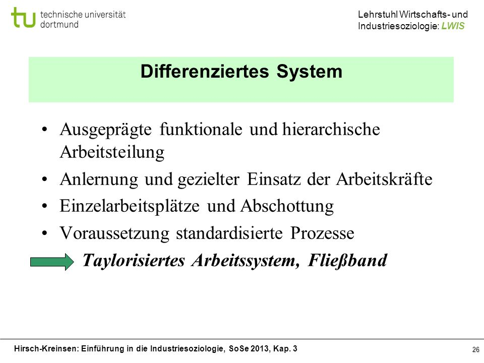 Differenziertes System