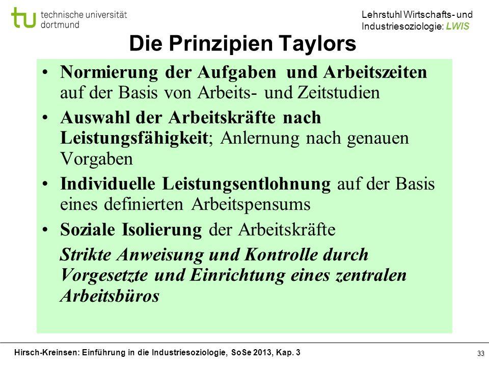 Die Prinzipien Taylors