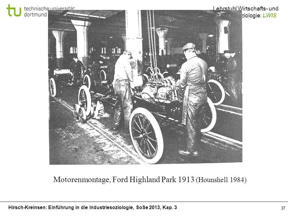 Motorenmontage, Ford Highland Park 1913 (Hounshell 1984)