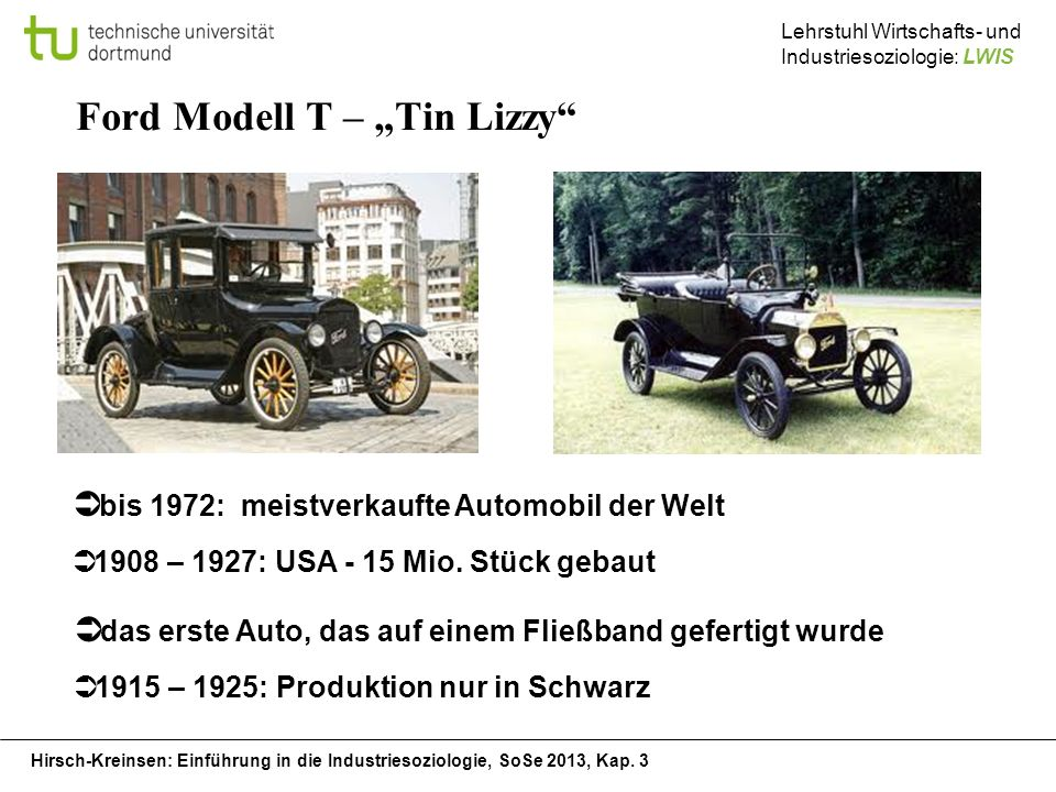 "Ford Modell T – ""Tin Lizzy"