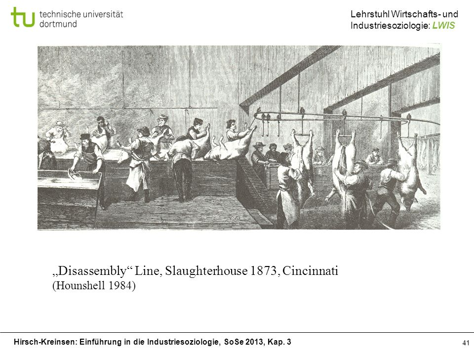 """Disassembly Line, Slaughterhouse 1873, Cincinnati"