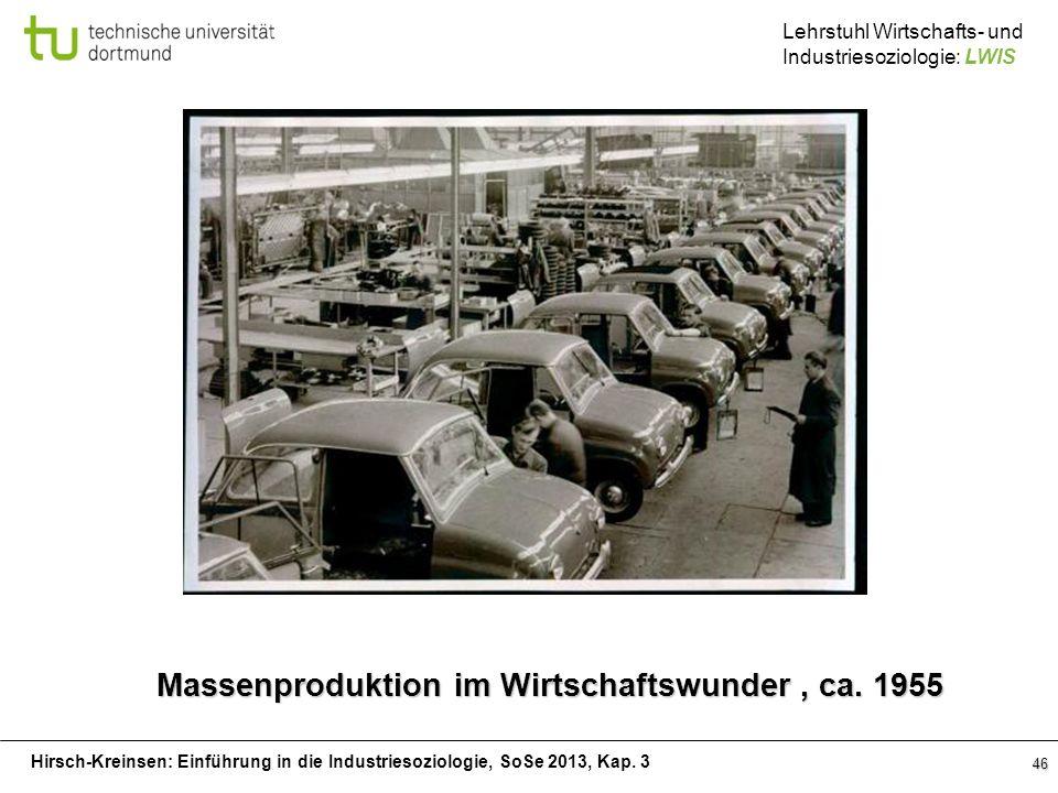 Massenproduktion im Wirtschaftswunder , ca. 1955
