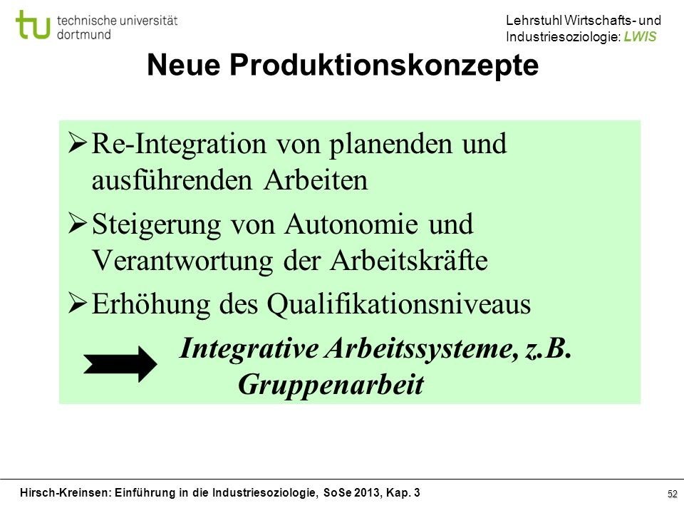 Neue Produktionskonzepte