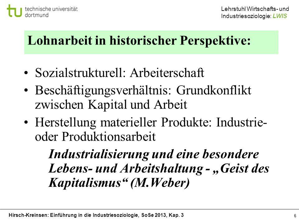 Lohnarbeit in historischer Perspektive: