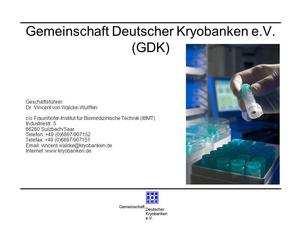 Gemeinschaft Deutscher Kryobanken e.V. (GDK)