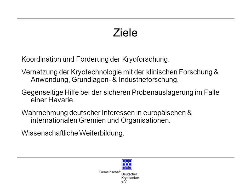 Ziele Koordination und Förderung der Kryoforschung.