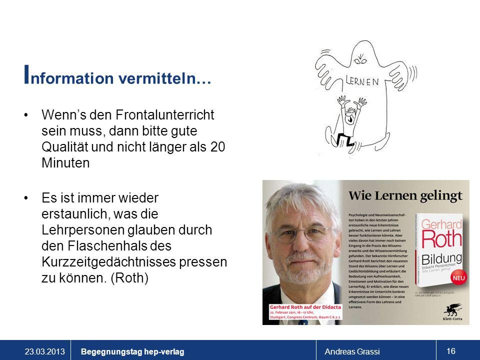 Information vermitteln…