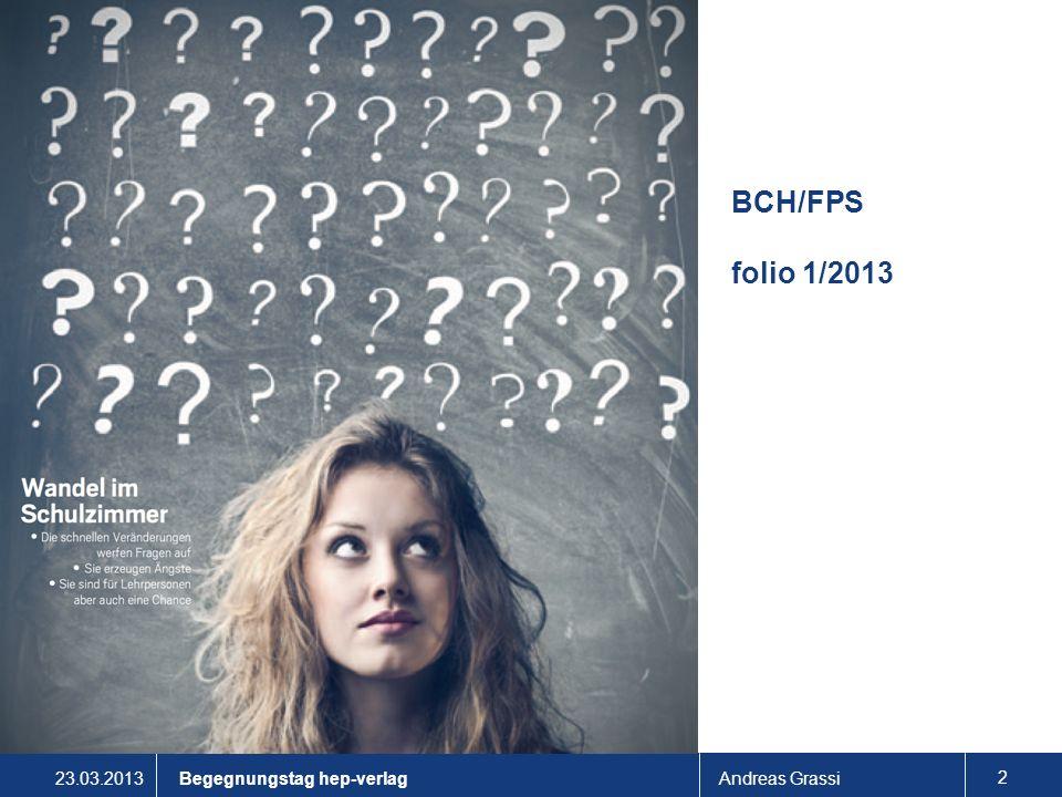 BCH/FPS folio 1/2013 Begegnungstag hep-verlag