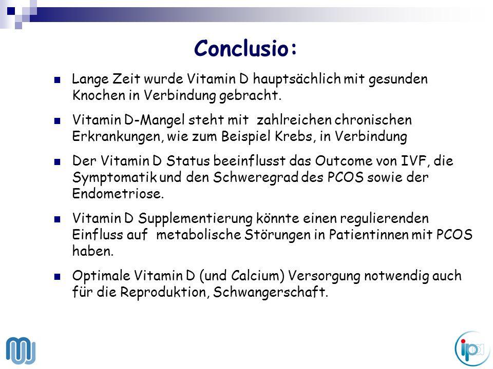 Conclusio: Lange Zeit wurde Vitamin D hauptsächlich mit gesunden Knochen in Verbindung gebracht.