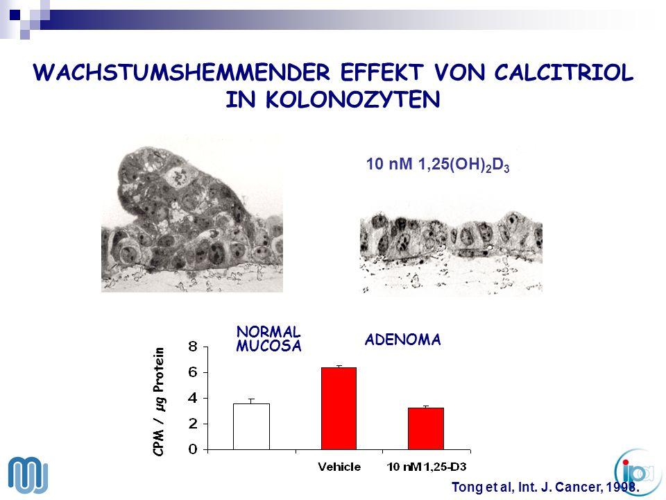 WACHSTUMSHEMMENDER EFFEKT VON CALCITRIOL IN KOLONOZYTEN