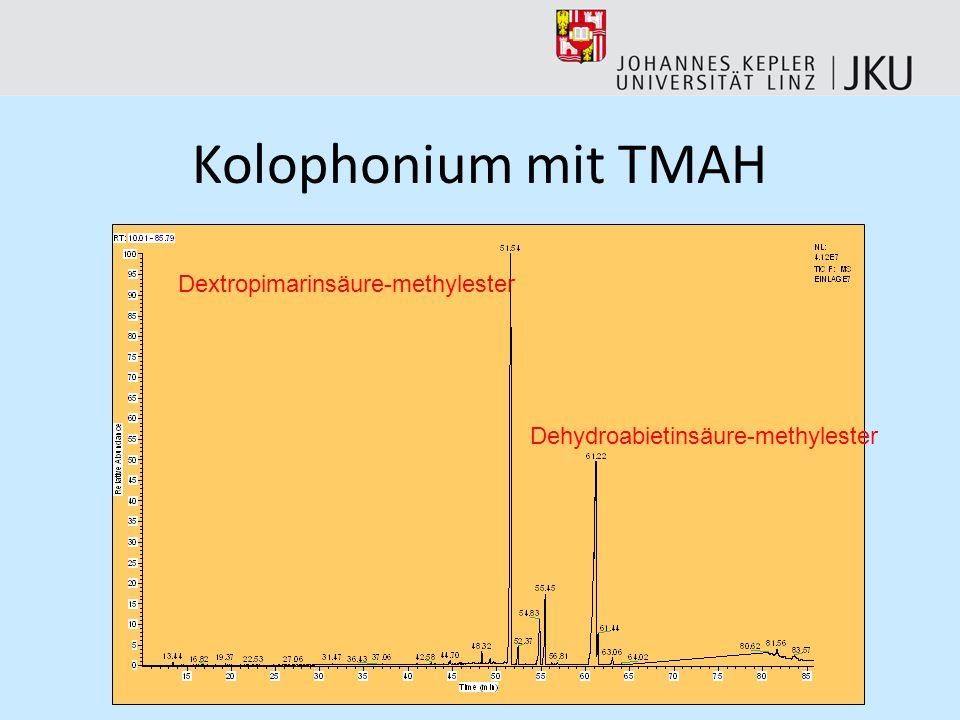 Kolophonium mit TMAH Dextropimarinsäure-methylester