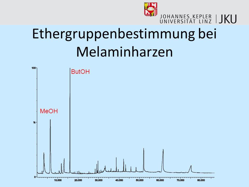 Ethergruppenbestimmung bei Melaminharzen