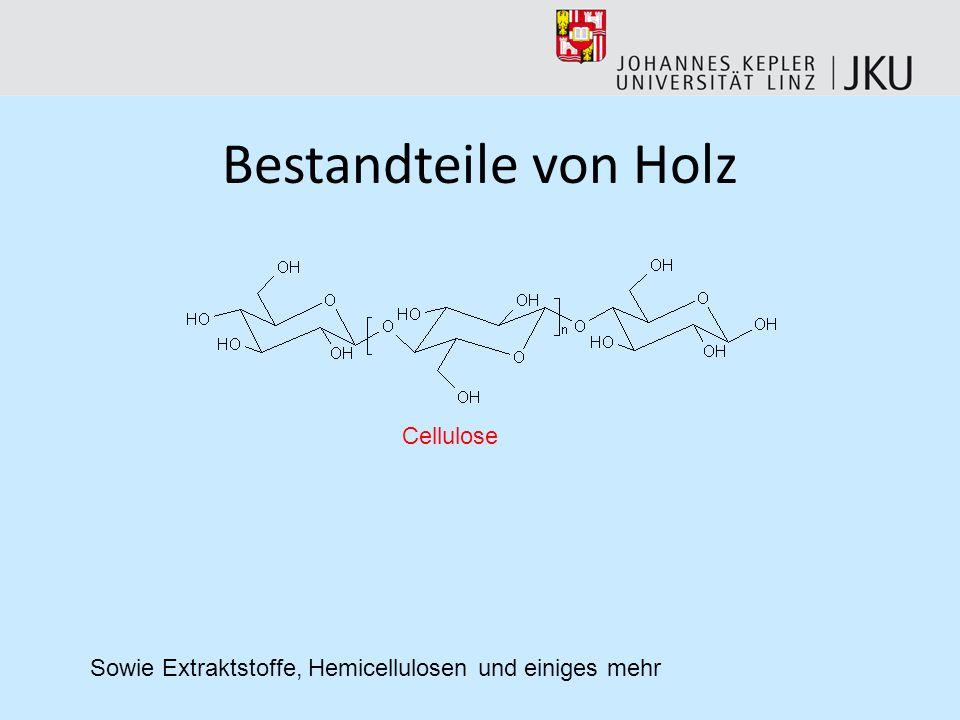 Bestandteile von Holz Cellulose