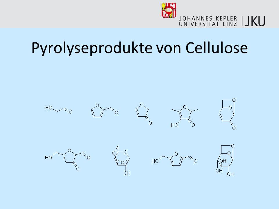 Pyrolyseprodukte von Cellulose