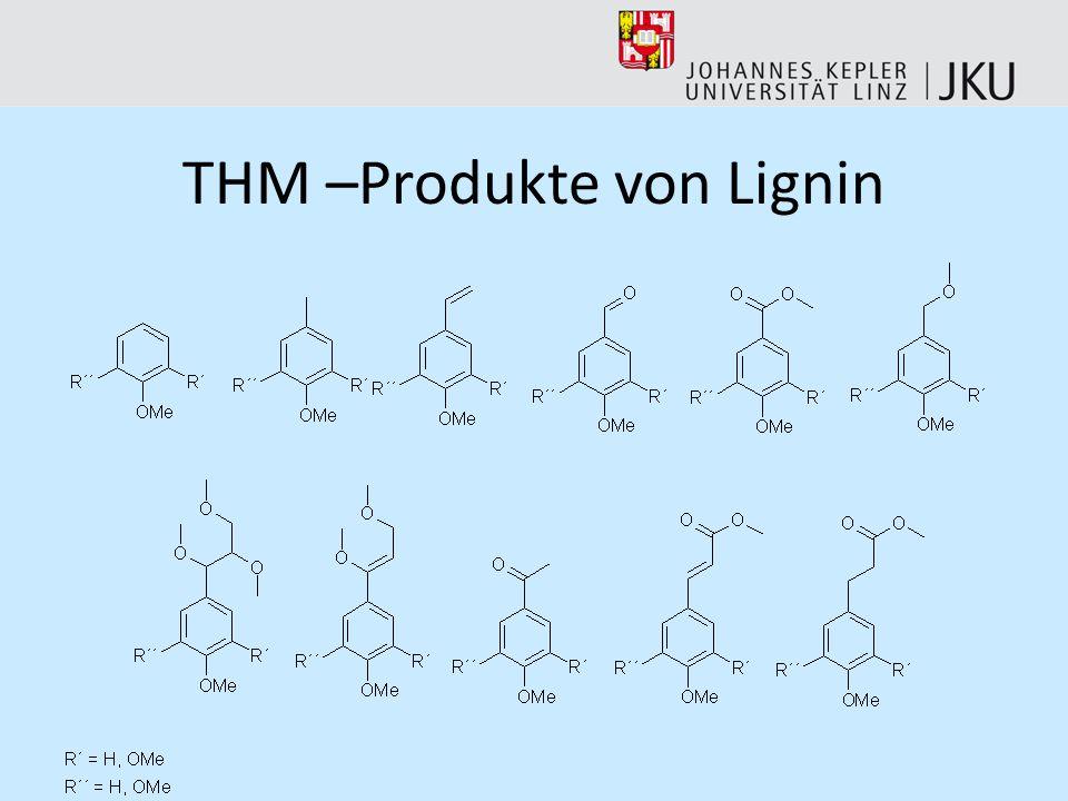 THM –Produkte von Lignin