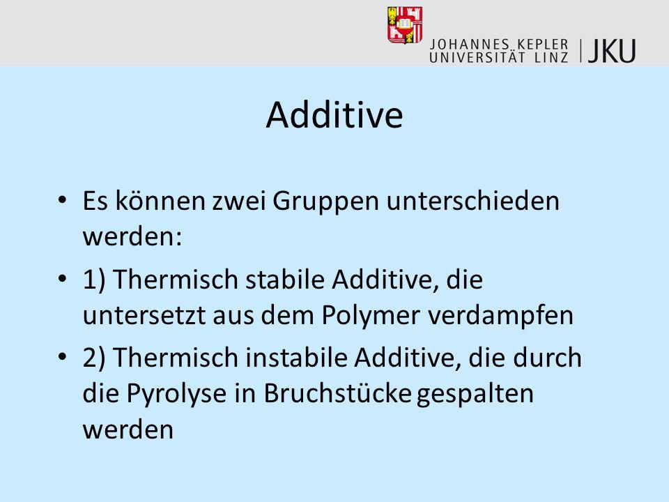 Additive Es können zwei Gruppen unterschieden werden: