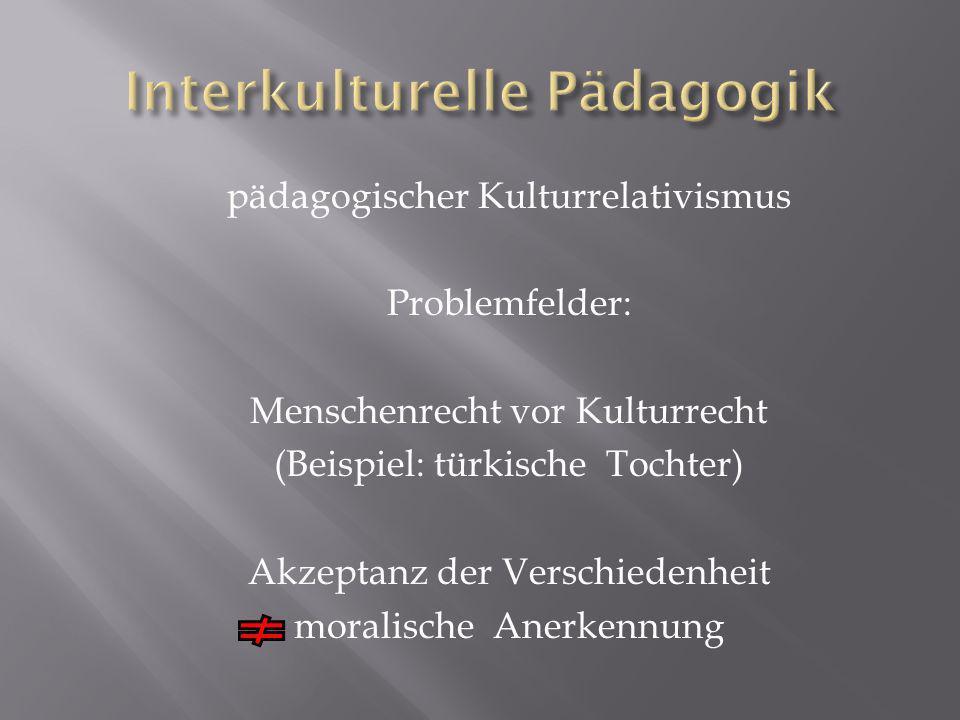 Interkulturelle Pädagogik