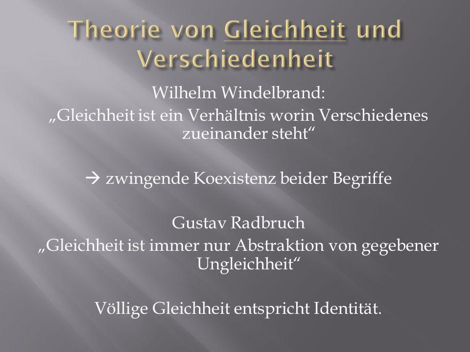 Theorie von Gleichheit und Verschiedenheit