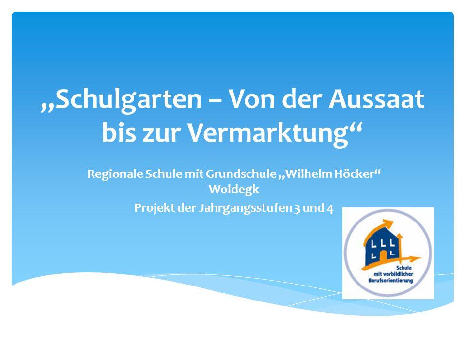 """""""Schulgarten – Von der Aussaat bis zur Vermarktung"""
